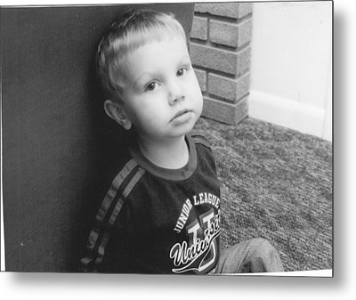 Somber Boy  Metal Print by Lisa Hartsell