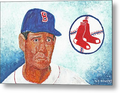 Ted Williams Metal Print by William Bowers