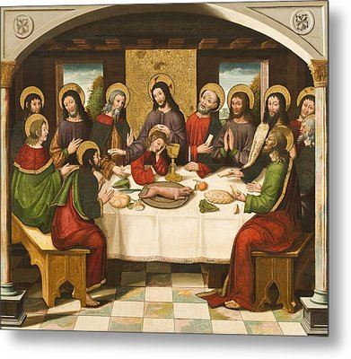 The Last Supper Metal Print by Master of Portillo