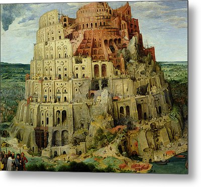 Tower Of Babel Metal Print by Pieter the Elder Bruegel
