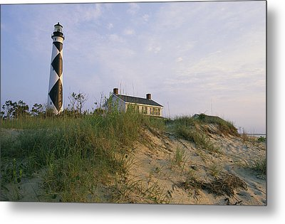 View Of Cape Lookout Lighthouse Metal Print by Stephen Alvarez