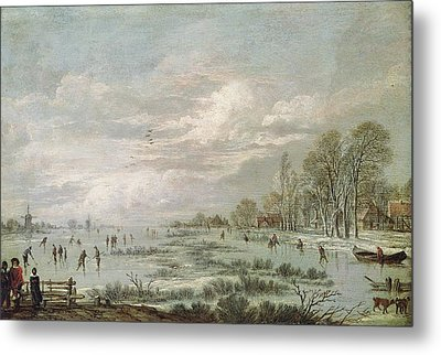 Winter Landscape Metal Print by Aert van der Neer