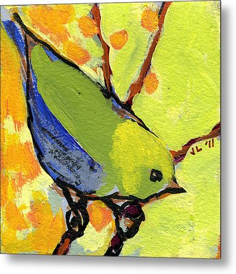 16 Birds No 2 Metal Print by Jennifer Lommers