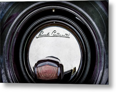 1941 Lincoln Continental Spare Tire Emblem - 1963ac Metal Print by Jill Reger