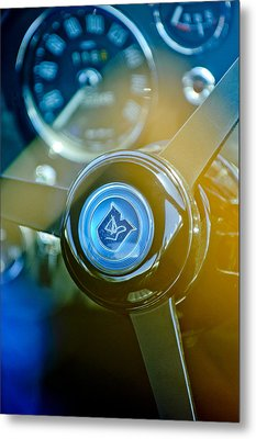 1965 Aston Martin Db5 Coupe Rhd Steering Wheel Metal Print by Jill Reger