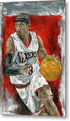 Allen Iverson Metal Print by David Courson