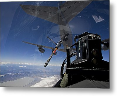 An F-15 Eagle Pulls Into Position Metal Print by HIGH-G Productions