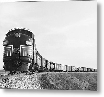 Historic Freight Train Metal Print by Omikron