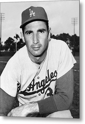 Sandy Koufax (1935- ) Metal Print by Granger