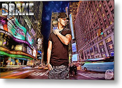 Street Phenomenon Drake Metal Print by The DigArtisT