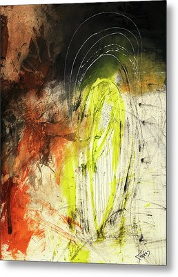 Bold Earth Tone Abstract Painting Metal Print by Michel Keck