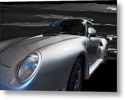 959 Porsche Metal Print by Paul Barkevich