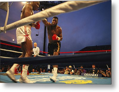 A Boxer Delivers A Punch Metal Print by Maria Stenzel