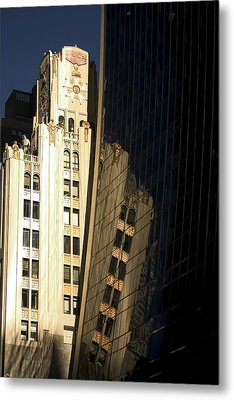 A Building Into A Building Metal Print by Karol Livote