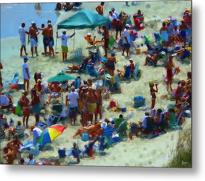 A Day At The Beach Metal Print by Jeff Breiman