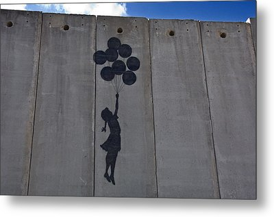 A Painting On The Israeli Separartion Metal Print by Keenpress