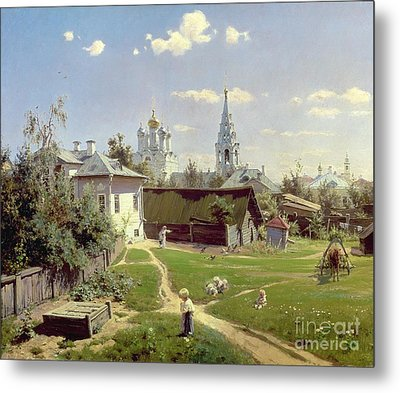 A Small Yard In Moscow Metal Print by Vasilij Dmitrievich Polenov