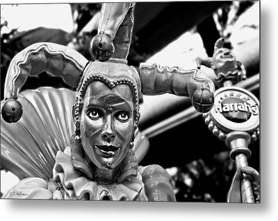 A Smile Behind The Scars B-w Metal Print by Christopher Holmes