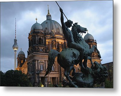 A Twilight View Of The Berlin Cathedral Metal Print by Jim Webb