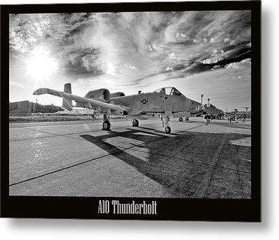 A10 Thunderbolt Metal Print by Greg Fortier