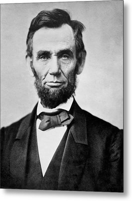 Abraham Lincoln -  Portrait Metal Print by International  Images