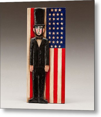 Abraham Lincoln Metal Print by James Neill
