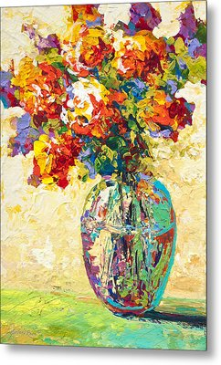 Abstract Boquet Iv Metal Print by Marion Rose