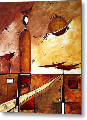 Abstract Figurative Art African Flame By Madart Metal Print by Megan Duncanson