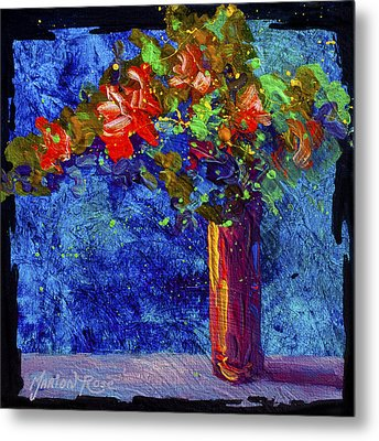 Abstract Floral 2 Metal Print by Marion Rose