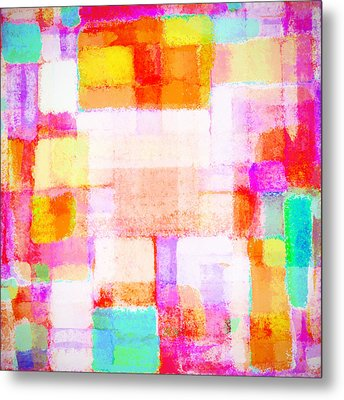 Abstract Geometric Colorful Pattern Metal Print by Setsiri Silapasuwanchai