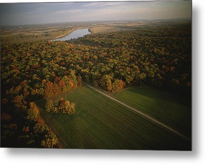 Aerial View Of Shiloh. The Tennessee Metal Print by Sam Abell