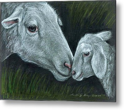 Affectionate Nuzzle Metal Print by Linda Nielsen