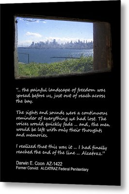 Alcatraz Reality - The Painful Landscape Of Freedom Metal Print by Daniel Hagerman