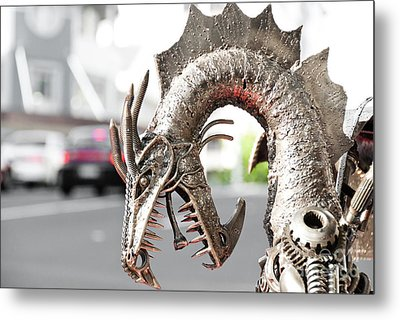 Alien Invasion.dragon. Metal Print by Yurix Sardinelly