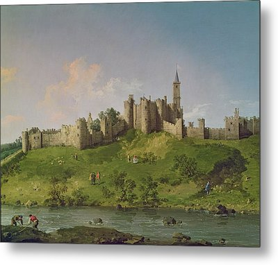 Alnwick Castle Metal Print by Canaletto