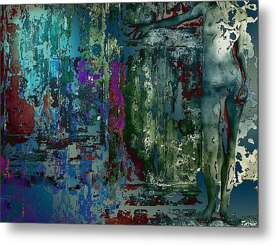 Along The Wall Metal Print by Francis Erevan
