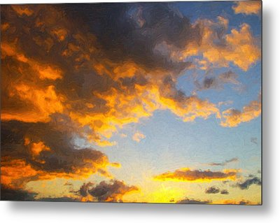 Amarillo Golden Sunset Metal Print by Jeff Steed