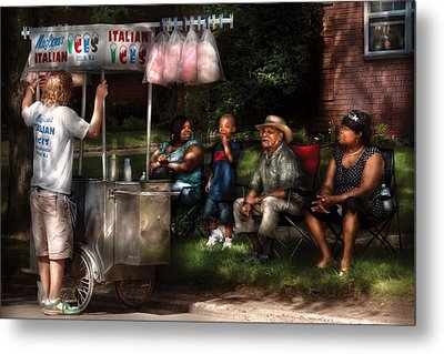 Americana - People - Buying Treats Metal Print by Mike Savad