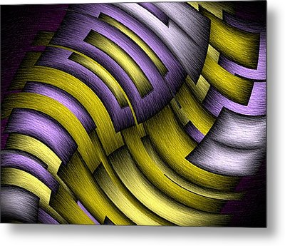 An Abstract Slope Metal Print by Terry Mulligan