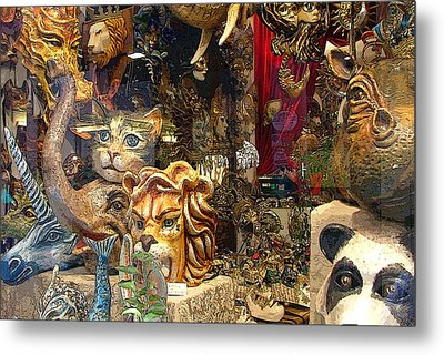 Animal Masks From Venice Metal Print by Mindy Newman
