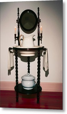 Antique Wash Stand Metal Print by Sally Weigand