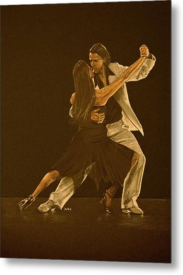 Argentine Tango Dancers Metal Print by Martin Howard
