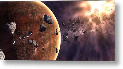 Artists Concept Of A Supernova Metal Print by Frieso Hoevelkamp