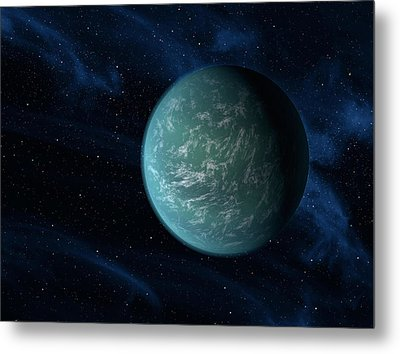 Artists Concept Of Kepler 22b, An Metal Print by Stocktrek Images