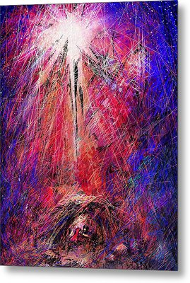 Away In A Manger Metal Print by Rachel Christine Nowicki