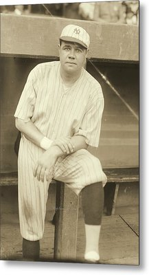 Babe Ruth Posing Metal Print by Padre Art