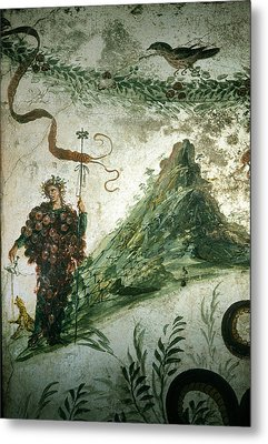 Bacchus, Roman God Of Wine, Stands Metal Print by O. Louis Mazzatenta