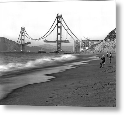Baker Beach In Sf Metal Print by Underwood Archives