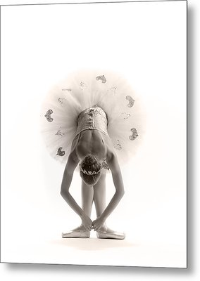 Ballerina Bent Metal Print by Steve Williams