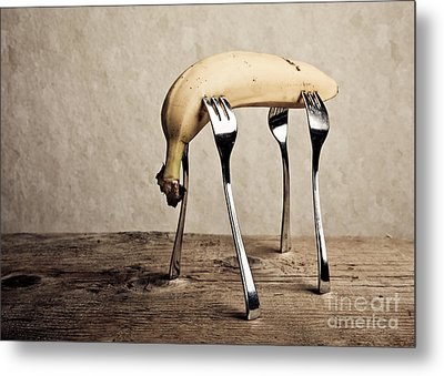 Banana Metal Print by Nailia Schwarz